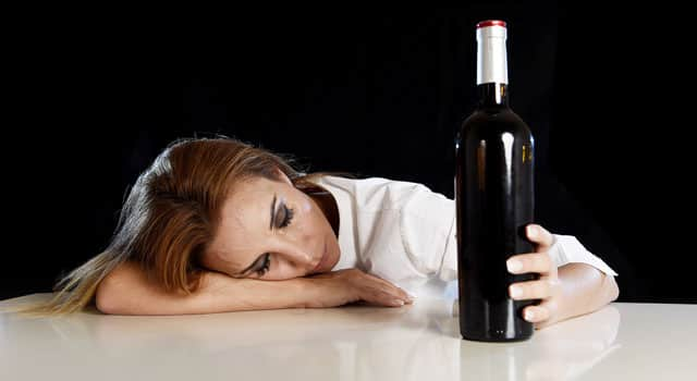 woman in an alcohol blackout